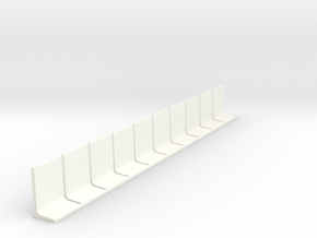N Scale Retaining Wall 2500mm 10pc in White Strong & Flexible Polished