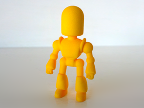 Toy Robot in Yellow Strong & Flexible Polished