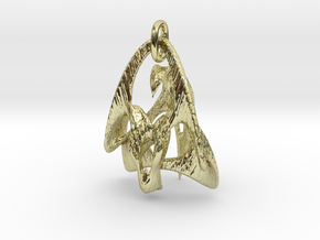 """Duality"" pendant ( f / m ) in 18K Gold Plated"