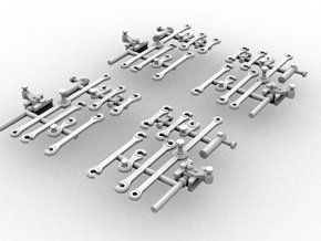 G42 ConnectingRods(OO9/1:76 Scale) in Frosted Ultra Detail