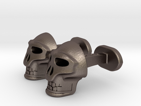 Skull Cufflinks in Stainless Steel
