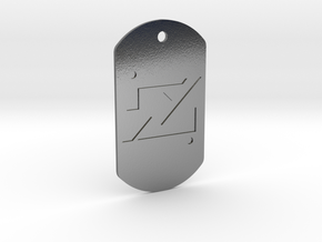 zod kandorian dog tag double sided in Polished Silver