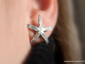 Groovy Starfish Earring in Polished Silver