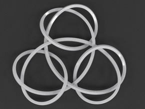 Trinity Knot Pendant in White Strong & Flexible Polished