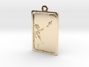 Banksy Girl With Balloon Pendant in 14K Gold