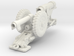 Heavy Cannon 28mm scale in White Strong & Flexible