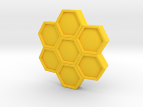 Bee Shield in Yellow Strong & Flexible Polished