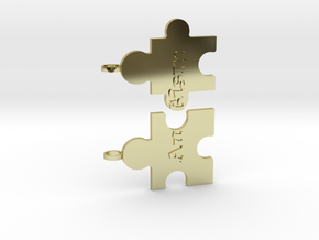 Autism Puzzle Peices Necklace in 18K Gold Plated