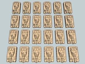 """""""Team Sabre"""" 3mm Tracked Main Battle Tanks (24pcs) in White Acrylic"""
