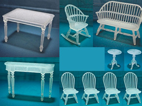 1:48 Windsor Furniture Set in Frosted Ultra Detail