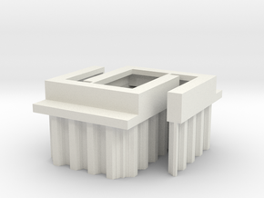 N Scale Bridge Abutment Sheet Piling (29mm) 2pc in White Strong & Flexible
