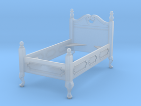 1:48 Queen Anne Twin Bed in Frosted Ultra Detail