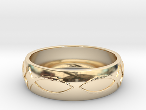 Size 9 Ring  in 14k Gold Plated