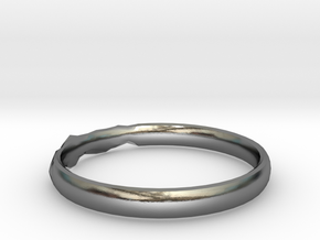 Shadow Ring US Size 8.5 in Polished Silver