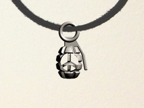 Peace Grenade in Stainless Steel