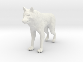 Wolf Miniature in White Strong & Flexible