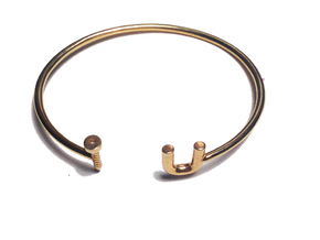Screw U Cuff - Small in 18K Gold Plated