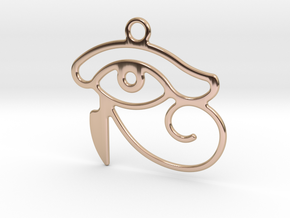 The Eye Of Horus in 14k Rose Gold Plated