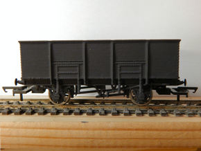 00 GWR N34 Steel Bodied 21t Loco Coal Wagon in White Strong & Flexible Polished