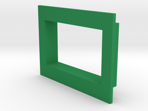 Square .36 Voltmeter Bezel in Green Strong & Flexible Polished