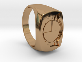 Test Squadron - Signet Ring - Alternate (Embed) in Polished Brass