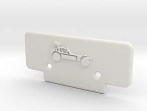 RC10T Bumper w/ AE Buggy Logo in White Strong & Flexible