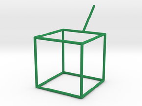 Wire Model for Soap: Cube in Green Strong & Flexible Polished