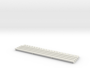 N Scale Concrete Cable Trough 3mm in White Strong & Flexible