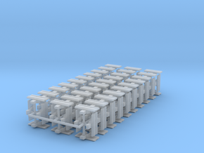 """1/64th Equipment track link set 2. 120 links 24"""" w in Frosted Ultra Detail"""