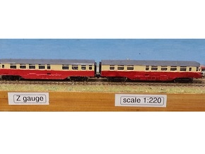 GWR Railcar - Twin Car Set - Z 1:220 in Frosted Ultra Detail