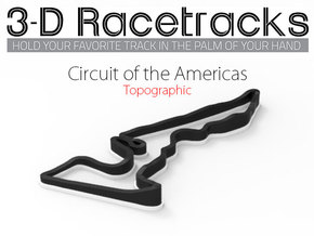Circuit of the Americas | Topographic Large in Full Color Sandstone