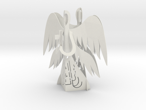 Two Angels 3D - Prayer and Cross in White Strong & Flexible