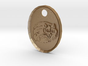 Fox Medallion in Matte Gold Steel