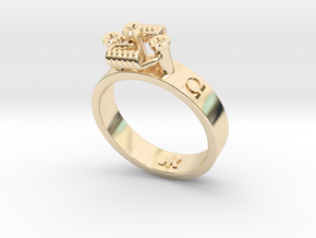 Simple RDA band ring sizes 5-15 in 14k Gold Plated