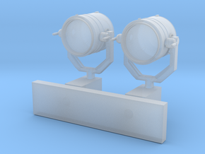 1:72 scale Search Light with Wall Stand in Frosted Ultra Detail