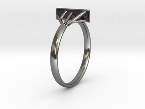 Suspension Ring US Size  5/8 UK Size R in Polished Silver