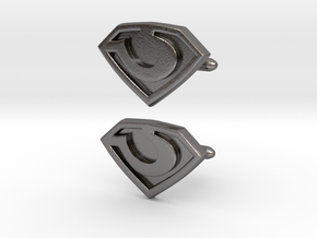 General Zod cufflinks in Polished Nickel Steel