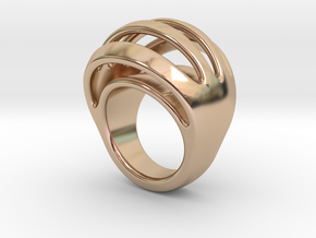 RING CRAZY 24 - ITALIAN SIZE 24 in 14k Rose Gold Plated