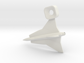 Saab Draken Charm in White Strong & Flexible