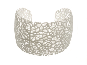 Rhizome Cuff (sz L) in White Strong & Flexible Polished