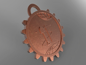 Interplanetary Mining Tag in Matte Bronze Steel