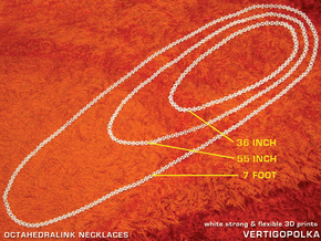 55inch Octahedralink Necklace in White Strong & Flexible