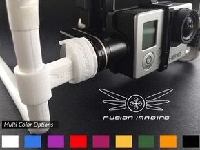 GoPro Zenmuse H3-2D Gimbal Transport Lock (V2) in White Strong & Flexible Polished