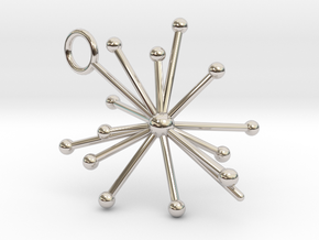 Voyager 1&2 Pulsar Map Pendant in Rhodium Plated