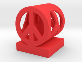 Peace on Peace Small in Red Strong & Flexible Polished