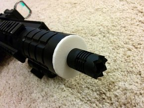 Patriot M4 Silencer Adapter in White Strong & Flexible