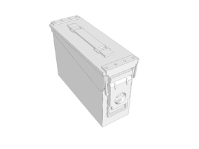 1:6 scale 30 .cal ammo BOX can x1 in White Strong & Flexible
