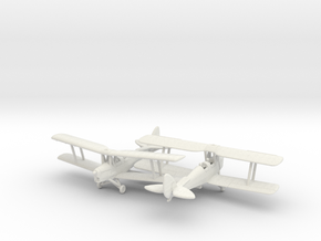 1/200 de Havilland DH82 Tiger Moth in White Strong & Flexible