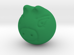 Real  Green Piggy in Green Strong & Flexible Polished