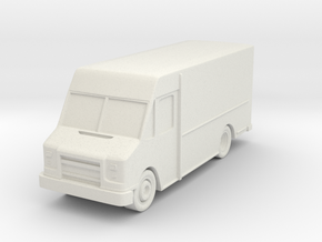 Delivery Truck At N Scale in White Strong & Flexible